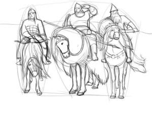 Как-нарисовать-Илью-Муромца-карандашом-поэтапно-3