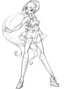 Как-нарисовать-Стеллу-карандашом-поэтапно-3