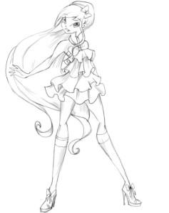 Как-нарисовать-Стеллу-карандашом-поэтапно-4