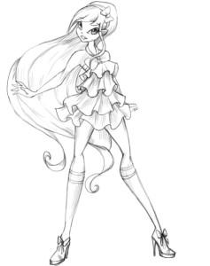 Как-нарисовать-Стеллу-карандашом-поэтапно-5