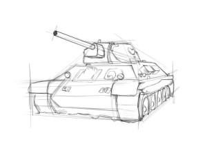Как нарисовать танк? - 3