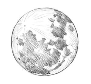 Как-нарисовать-луну-карандашом-поэтапно-4