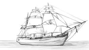 Как-нарисовать-парусник-карандашом-поэтапно-5