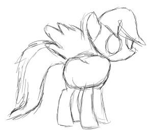Рисуем искорку пони - 9
