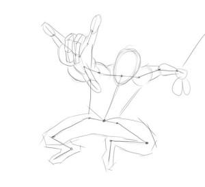 Как-нарисовать-Человека-Паука-карандашом-поэтапно-2