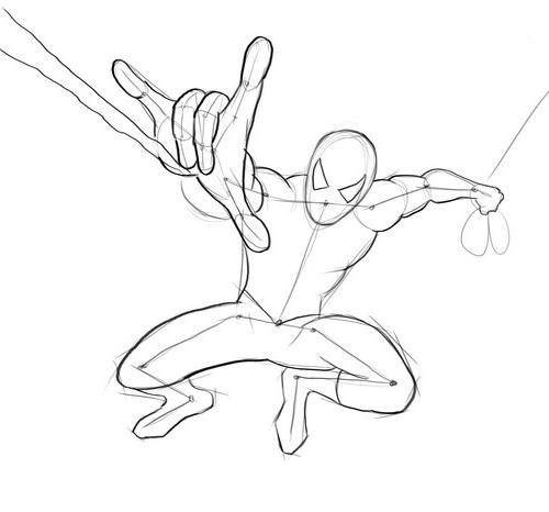 Рисуем карандашом поэтапно для начинающих человека паука