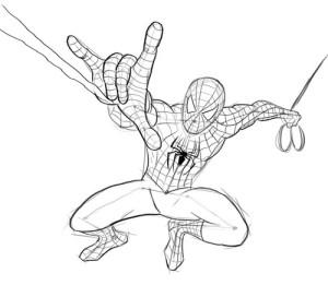 Как-нарисовать-Человека-Паука-карандашом-поэтапно-5