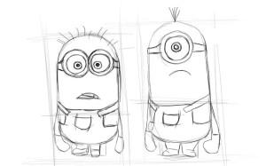 Как-нарисовать-Миньона-карандашом-поэтапно-3