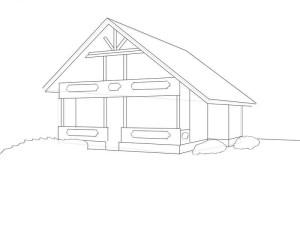 Как-нарисовать-дом-карандашом-поэтапно-3