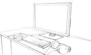 Как-нарисовать-компьютер-карандашом-поэтапно-3