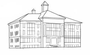 Как-нарисовать-школу-карандашом-поэтапно-5