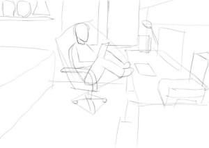Как-нарисовать-свою-комнату-карандашом-поэтапно-2