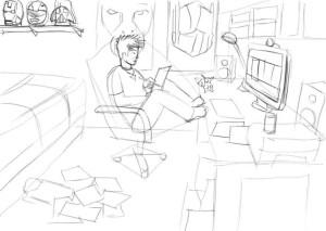 Как-нарисовать-свою-комнату-карандашом-поэтапно-3