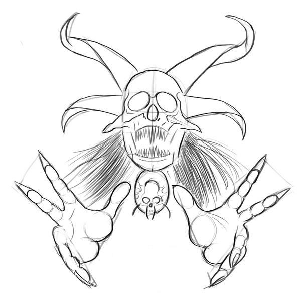 Как нарисовать череп?