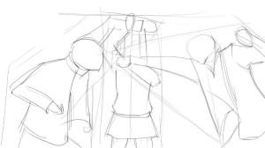Как-нарисовать-драку-карандашом-поэтапно-2