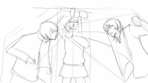 Как-нарисовать-драку-карандашом-поэтапно-3