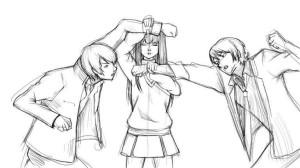 Как-нарисовать-драку-карандашом-поэтапно-4