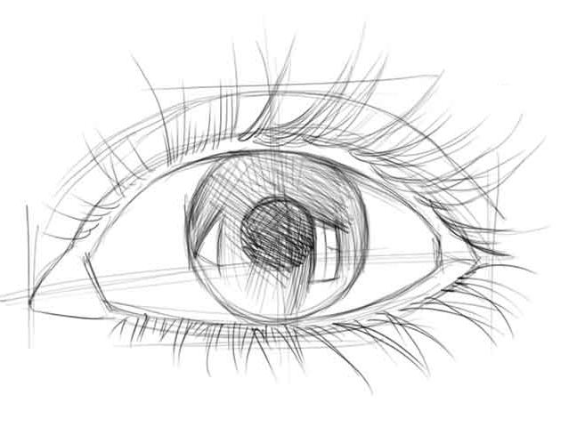 Как правильно нарисовать глаза карандашом