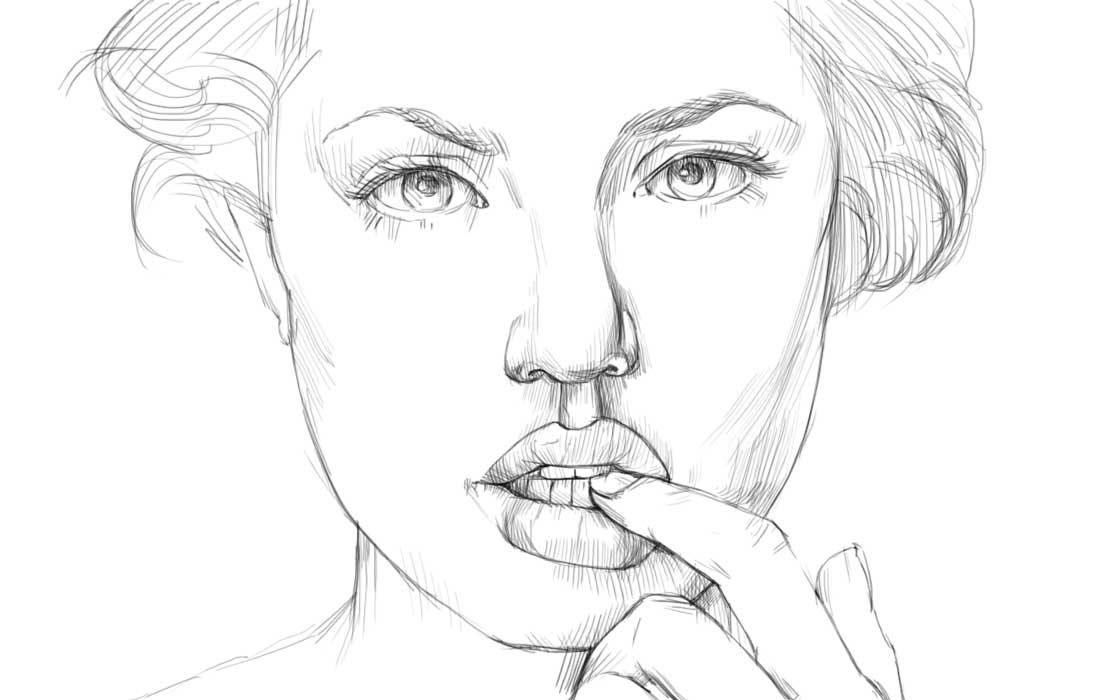 Рисуем в профиль человека