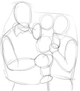 Как-нарисовать-маму-и-папу-карандашом-поэтапно-2