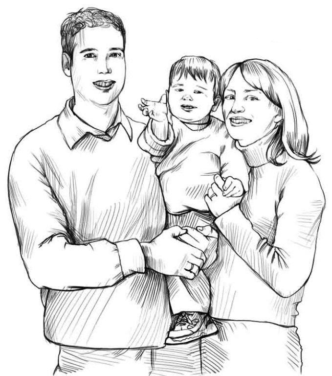 Как нарисовать маму и папу
