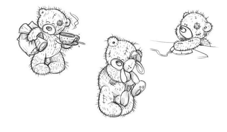 Как нарисовать мишку Тедди беар