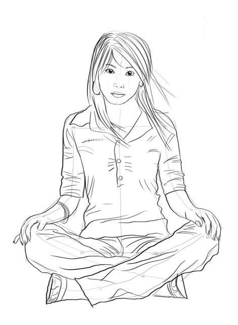 Как нарисовать сидящего человека?