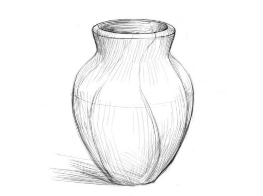 Нарисовать вазу карандашом поэтапно 4
