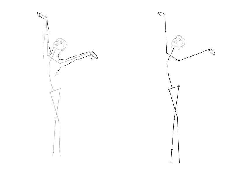 Балерин карандашом поэтапно