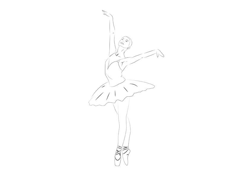 Как балерину карандашом поэтапно