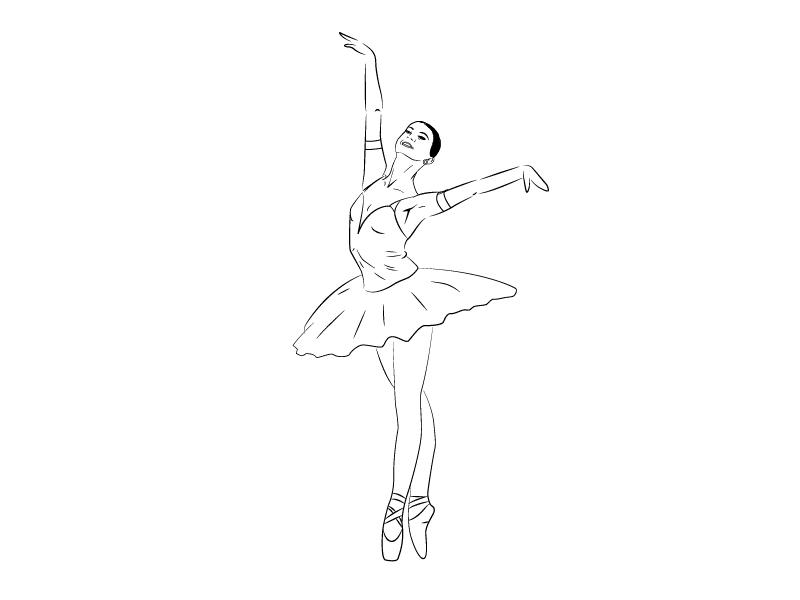 Как нарисовать балерину?