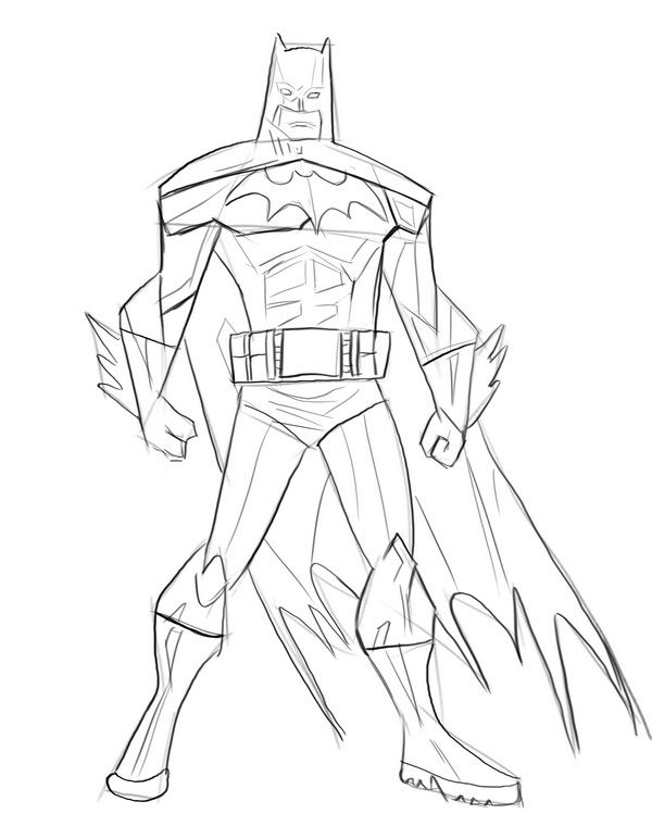 Как нарисовать Бэтмена?