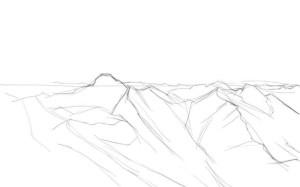 Как-нарисовать-горы-карандашом-поэтапно-2