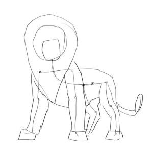 Как-нарисовать-короля-льва-карандашом-поэтапно-2
