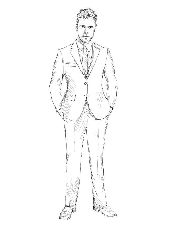 Как нарисовать костюм