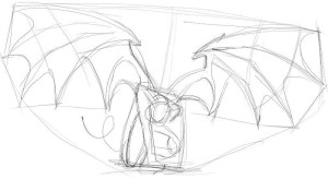 Как-нарисовать-крылья-демона-карандашом-поэтапно-3