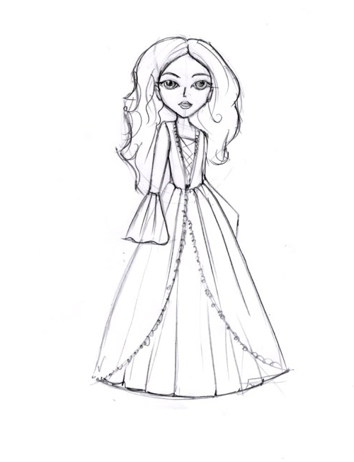 Как нарисовать куклу
