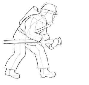 Как-нарисовать-пожарника-карандашом-поэтапно-3