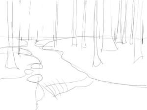 Как-нарисовать-реку-карандашом-поэтапно-2