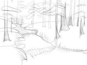 Как-нарисовать-реку-карандашом-поэтапно-3