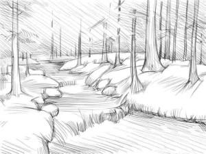 Как-нарисовать-реку-карандашом-поэтапно-5