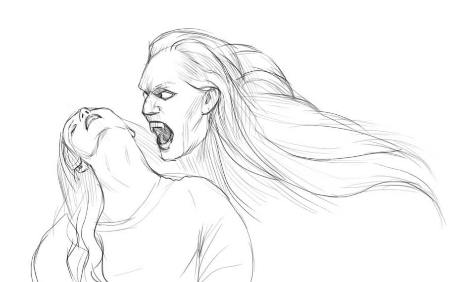 Как нарисовать вампира