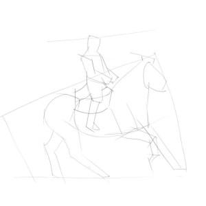 Как-нарисовать-всадника-карандашом-поэтапно-1