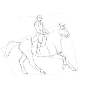 Как-нарисовать-всадника-карандашом-поэтапно-2