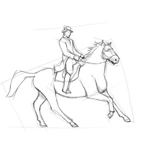 Как-нарисовать-всадника-карандашом-поэтапно-3