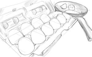 Как-нарисовать-яйца-карандашом-поэтапно-4