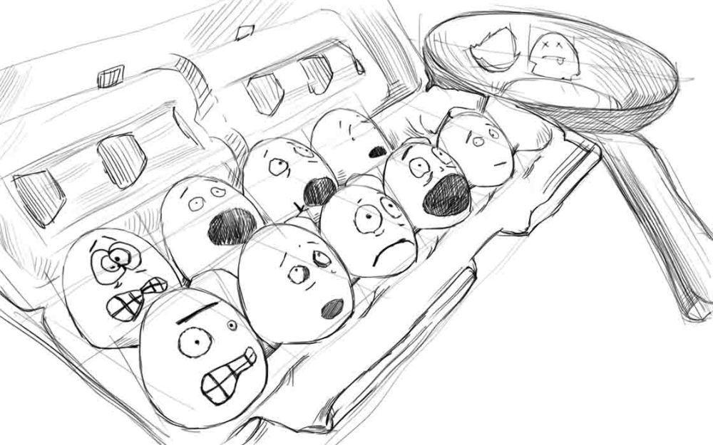 Как нарисовать яйцо?