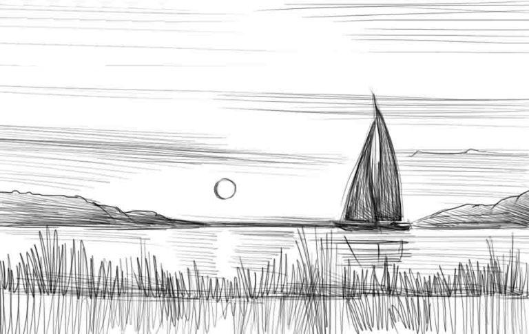 картинки карандашом море