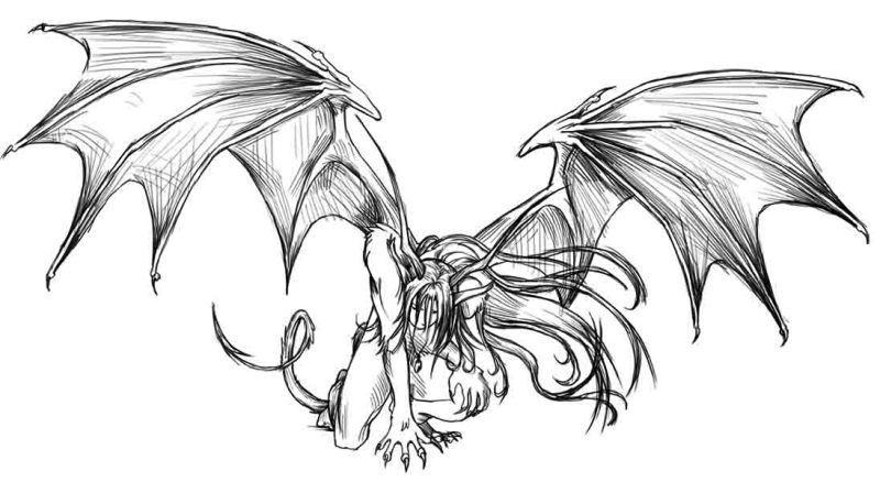 Фото девушки с крыльями демона