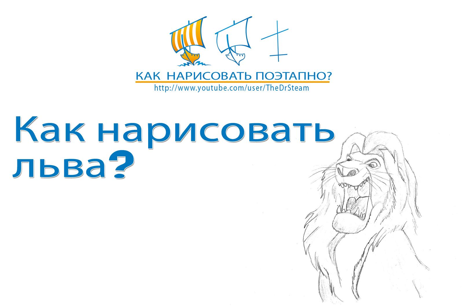 Видео: как нарисовать льва